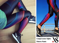 Women's Sport Running Yoga Gym Compression Tights Fitness Pants Trousers Skin