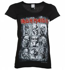 Official Women's Black Iron Maiden Nine Eddies T-Shirt from Amplified
