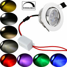 Dimmabe 3W 6W Multi Color LED Recessed Ceiling Down Bulb Spot Light Lamp+ Driver