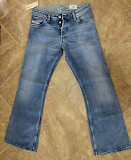 Diesel Men blue ZAF Medium wash 0072J  bootcut Jeans Made in Italy size 30X30