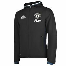 *ADIDAS - MANCHESTER UNITED PRE MATCH JACKET BLACK = SIZE ALL ADULTS
