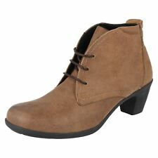 EASY B LADIES ANKLE BOOT JO 78364B BROWN LEATHER EE FIT UK5-7.5 (R5A)