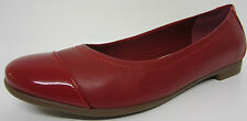 Clarks Ladies Flat Shoes Atomic Haze Red Leather UK 3 to 8 D Fitt (R3B)