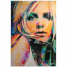 Mark Lewis 'Britney Spears Snow Blind' Limited Edition Pop Art Print on Metal or