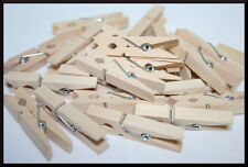 24- Small Wood Clothespins, 1 inch Clothespins, Wedding Clothespins, Baby Shower