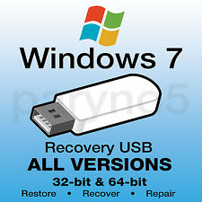 *#1 WINDOWS 7 Recovery USB Install Reinstall Restore USB Flash Drive ALL IN ONE