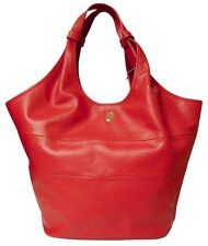 TORY BURCH Red Leather Medium Slouchy Hobo