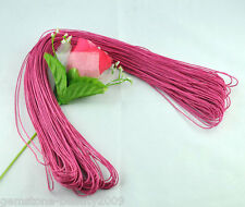Wholesale HOT! Fuchsia Waxed Cotton Necklace Cord 1mm