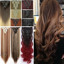 US Lady Long Clip in on Hair Extensions Ombre Hair Extentions human Favored f1r