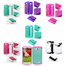 Heavy Duty Armor For LG Optimus Exceed 2 Diamond Hybrid Hard + Soft Cover Case