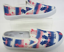 Spot On Ladies Canvas shoes F80086 Pink/Blue UK 3 to 8 (R1A)