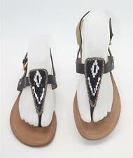 DV Dolce Vita Women's Black Beaded Slingback Flip Flop Sandals Size 9 Shoes