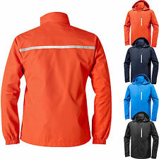 Hi Vis Soft Shell Windproof Hooded Hiking Outdoor Jacket Safety Reflective Coats