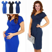 Pregnant Women Maternity Short Sleeve Casual Dress Cotton Summer Clothes New
