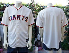 NEW $115 San Francisco Giants Replica Home Jersey by Majestic Cream Ivory 2014