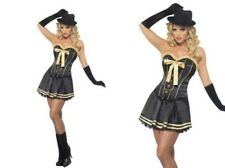 Adult Gangster Moll Fancy Dress Ladies Mafia Costume Size 8 to 18