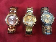 Geneva Fashion Womens Stainless Steel Band Analog Quarts Wrist Watch