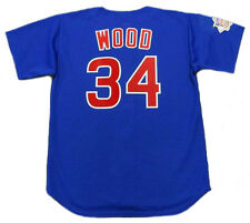 KERRY WOOD Chicago Cubs 2003 Majestic Throwback Alternate Baseball Jersey