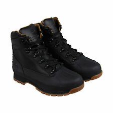Timberland Euro Hiker Shell Toe WP Mens Black Leather Hiking Boots Shoes