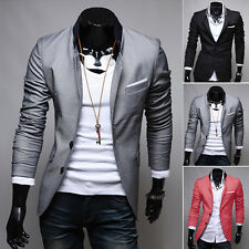Mens Basic Business Coat Jacket Blazer Slim Fit Stylish Casual Two Button Suit ❀