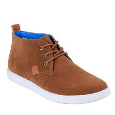 Men ARIDER Camel lace up high top chukka suede casual formal shoes CHASE-02
