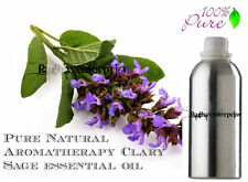 Essential Oil Clary Sage Aromatherapy 100% Pure Natural Therapeutic 5 ml -500 ml