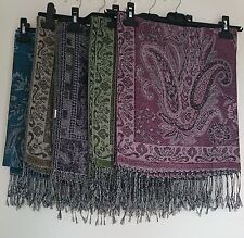 Traditional Pashmina Style Soft Long Scarf Stole Various Colours FREE FAST POST