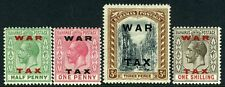 BAHAMAS-1919 War Tax Stamps Sg 102-105  MOUNTED MINT V11811