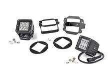 "Rough Country 2"" CREE LED Factory Fog Light Kit Jeep Wrangler JK 70615"