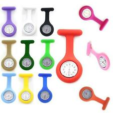Silicone Case Nurse Medical Doctor Watch Brooch Tunic Fob Watches Kids Gift