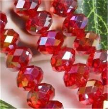 70pcs Red AB Swarovski Crystal Loose Bead 6X8mm##ZY2295