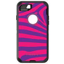 CUSTOM OtterBox Defender for iPhone 6 6S 7 PLUS Purple Hot Pink Zebra Skin