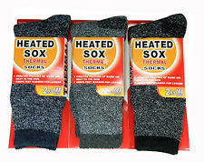 Mens Thermal Socks Heated Insulated Winter Warm Boot Hike Pack Lot