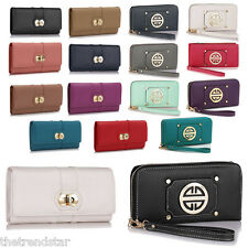New Womens Designer Coin Purse Faux Leather Ladies Stylish Wallets Evening Party