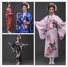 Lolita Kimono Japanese Peacock Geisha Fancy Dress Costume Cosplay Maid Waitress