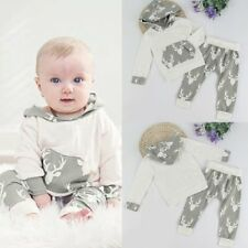 2pcs Newborn Infant Toddler Baby Boy T-shirt Tops+Long Pants Outfits Clothes Set
