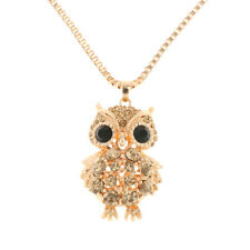 Lovely Women Lady Vintage Rhinestone Owl Pendant Long Chain Necklace Jewelry