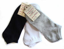 Mens Womens 9-11 Crew Ankle Socks Low Cut Sports Socks Black White Gray Thin New