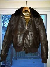 Vintage SCHOTT Flight Jacket, size 40, MADE IN USA, Brown Leather, I-S-674-M-S