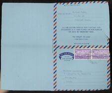 TONGA 1965 Apsley formula aerogram postal service ship red cross hunger stamp
