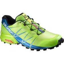 Trail Running Shoes SALOMON SPEEDCROSS PRO Granny green union blue white