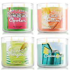 BATH AND BODY WORKS 3 Wick Candle -  NEW SUMMER SCENTS 2017