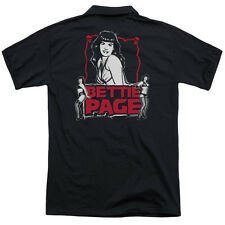 Bettie Page Bettie Scary Hot (Back Print) Mens Polo Shirt