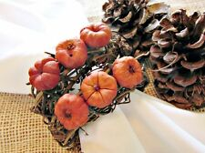 Fall / Autumn Putka Pumpkin Grapevine Napkin Rings for Thanksgiving Table Decor