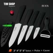 Ceramic Knife Set, 3 4 5 6 inch knife set kit +Ceramic Peeler