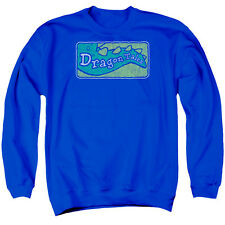 Dragon Tales Logo Distressed Mens Crew Neck Sweatshirt
