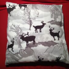 Winter Deer Decorative Pillow Super Soft Throw Pillows Buck Cabin Lodge Decor