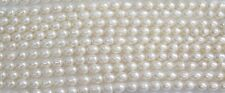 Rice White fresh Water pearl 8-9mm -  16 inch strand - AA