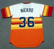 JOE NIEKRO Houston Astros 1980 Majestic Cooperstown Home Baseball Jersey