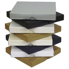"""Pearlescent 5""""x5"""" Greeting Card Boxes, Gift, Wedding. Choose Colour & Quantity"""